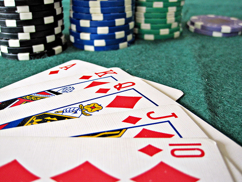 Poker Table Chips Cards Gambling Problem