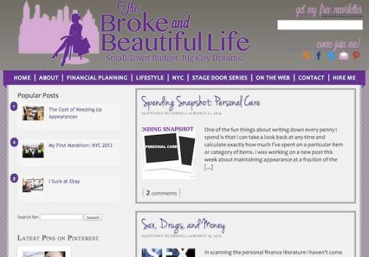 The Broke And Beautiful Life Screenshot Website