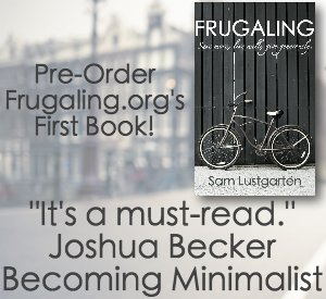 Frugaling Book review and cover