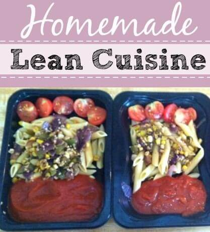 Homemade lean cuisine style freezer lunches