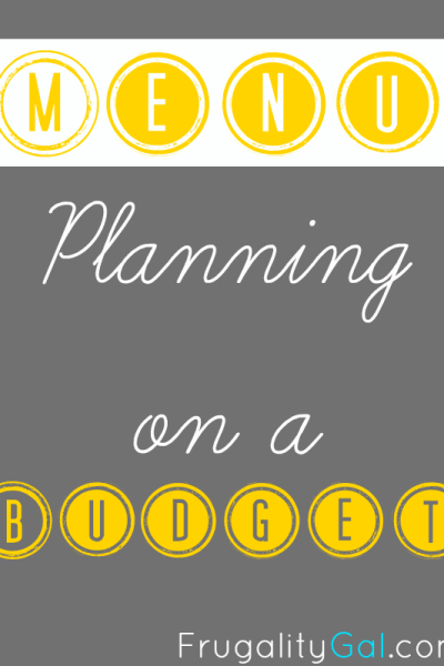 Meal Planning on a Budget – The Traditional Way
