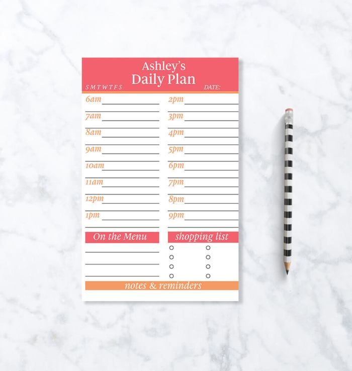 If you're looking for an hourly planner, I had to include this Hourly Planner Pad from my own shop Paper & Wit.