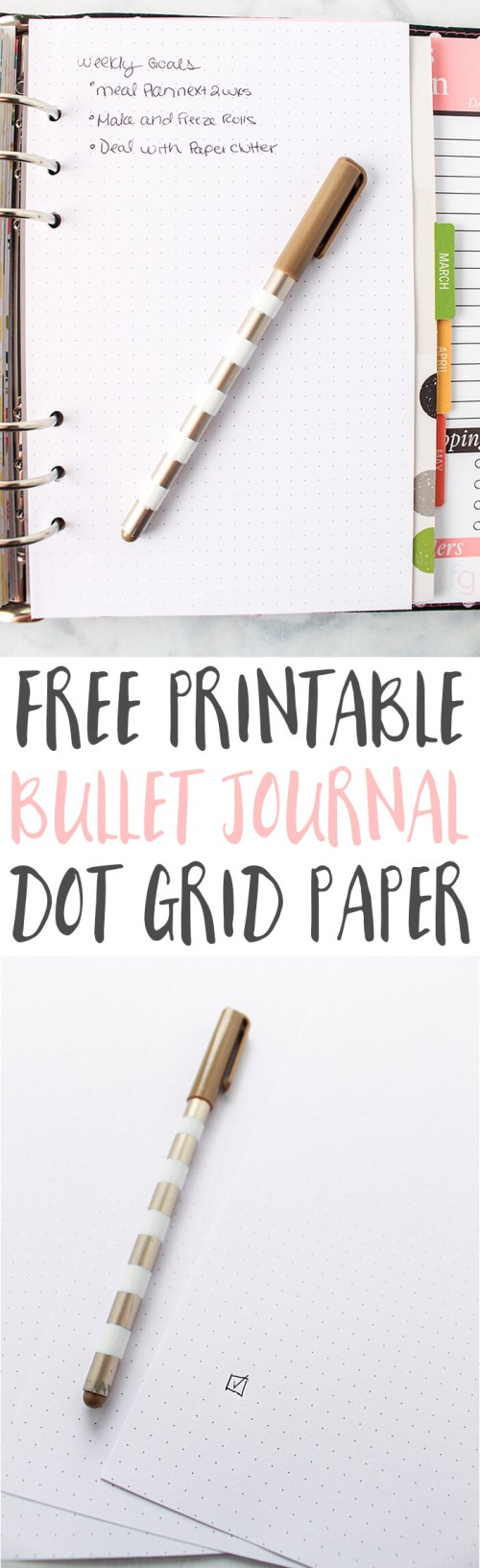Bullet Journal Ideas | Bullet Journaling | Bullet Journal Printables | Bullet Journal Layout | Planner Ideas | Dot Grid Paper Printable