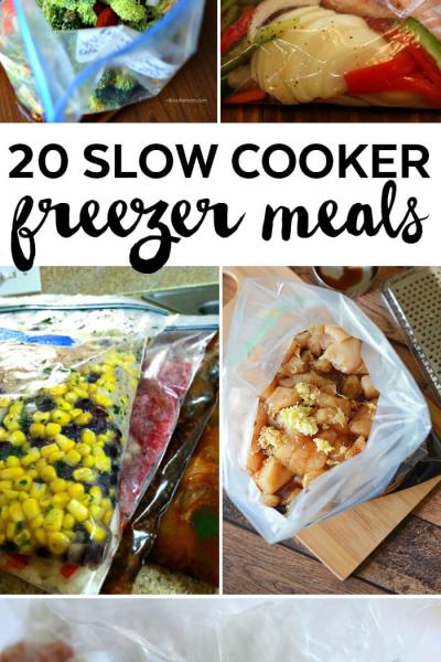 20 Slow Cooker Freezer Meals
