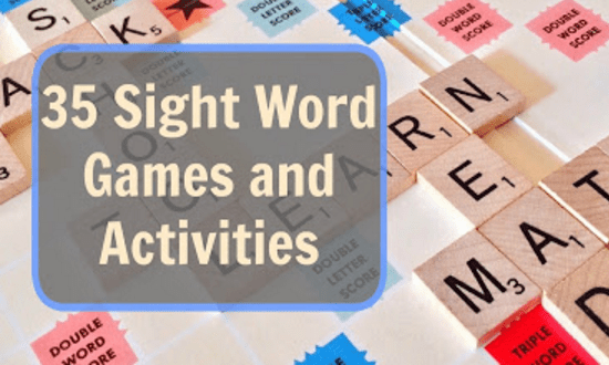 friday family home linkup - sight word games