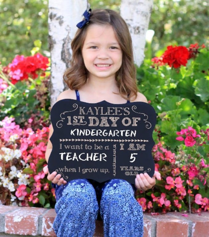Back to School Signs - First Day of School Chalkboard