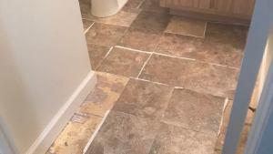 Installing Peel And Stick Vinyl Tile In Bathroom Frugal