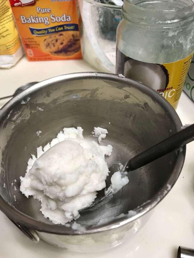 mixing homemade deodorant
