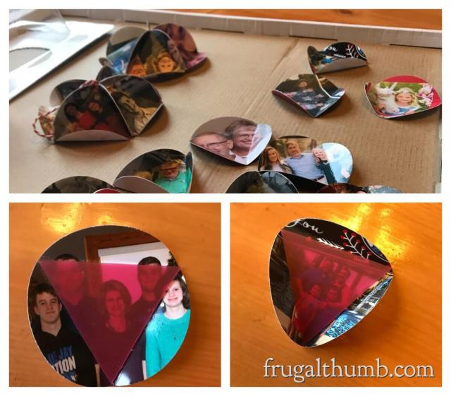 Using the triangle template to fold circles