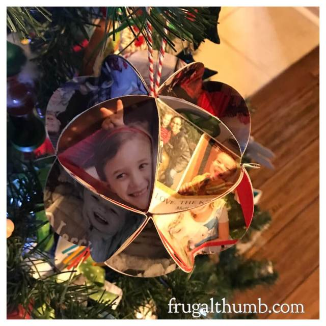 Hanging Christmas card ornament