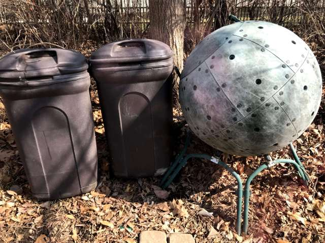 both kinds of compost bins - simple and affordable vs complex and expensive