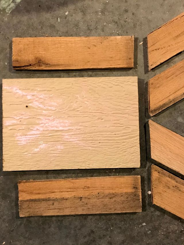 all required pieces from wood scraps