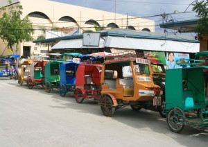 Tuk tuks for hire, Retire Abroad to Cebu, Philippines