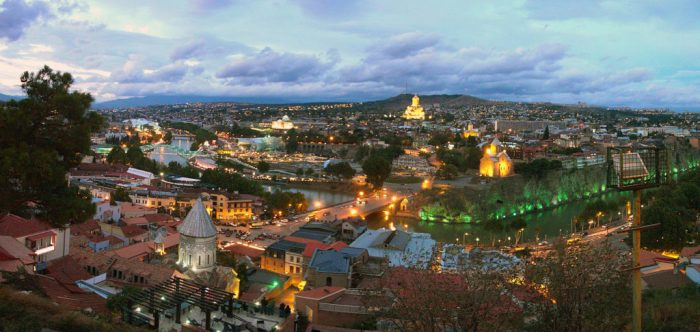 Sunset in Tbilisi