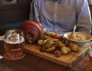 You. Guys. Pork knuckle and beer.