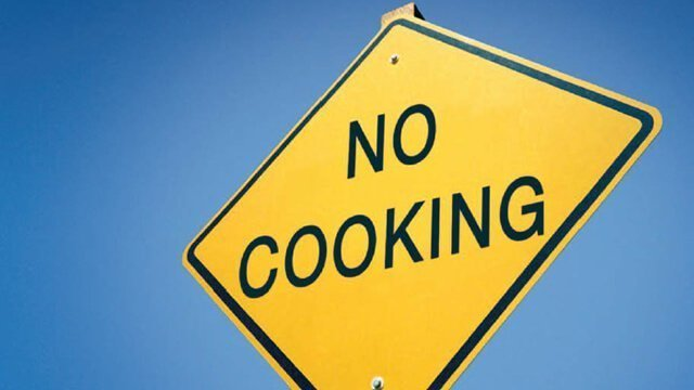 """Traffic sign that says """"No Cooking"""""""