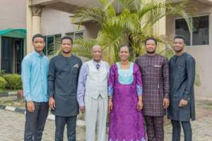 Lawrence Oyor's family picture