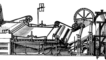 Paper Machine Art Sketched in Black and White