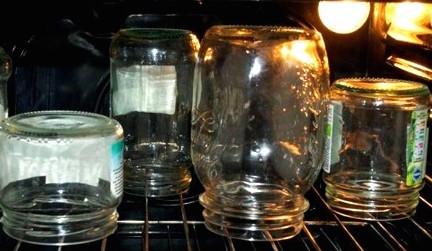 Подготовка банок в духовке