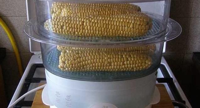 Приготовление кукурузы в пароварке