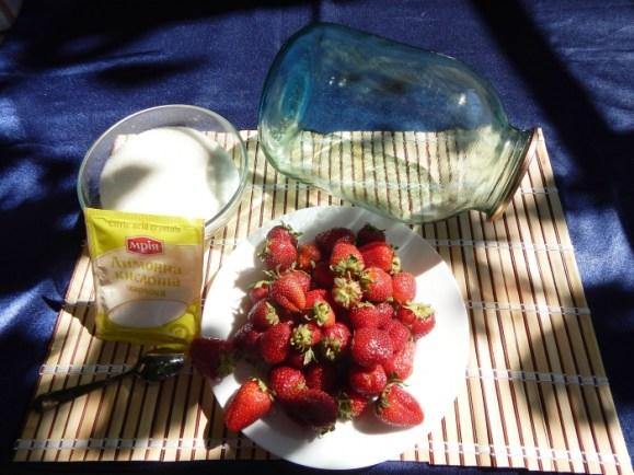 Ингридиенты для рецепта с лимонной кислотой