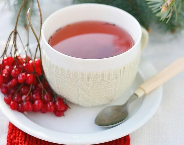 Отвар из ягод калины поддерживает иммунитет организма в зимнее время