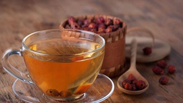 Чай из сушеного шиповника