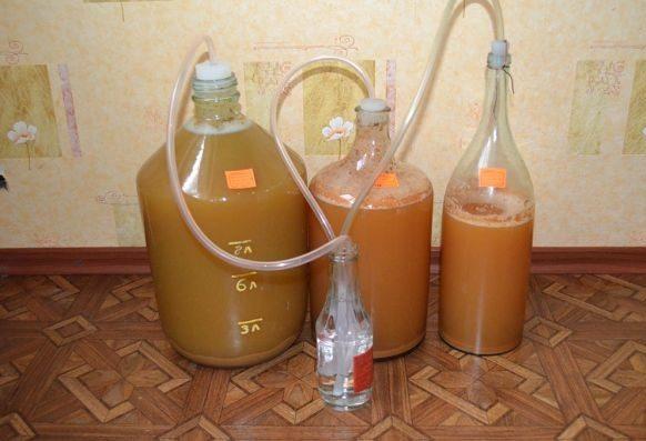 Процесс брожения напитка