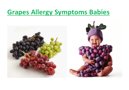 Grapes Allergy Symptoms Babies