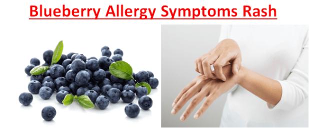 Blueberry Allergy Symptoms Rash