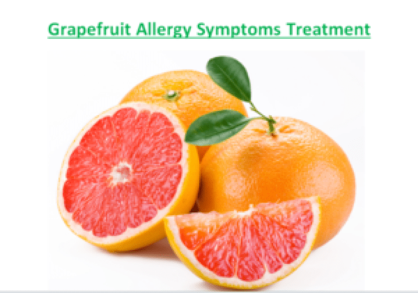 Grapefruit Allergy Symptoms Treatment