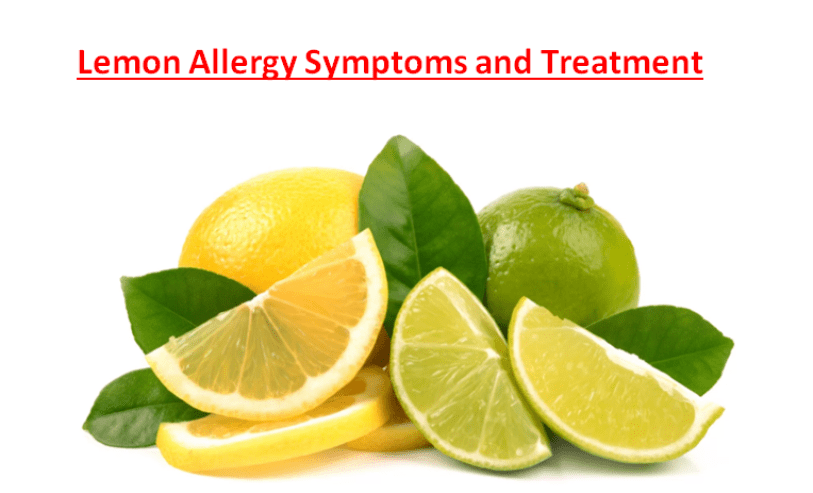Lemon Allergy Symptoms Treatment