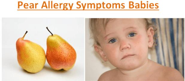 Pear Allergy Symptoms Babies