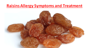 Raisins Allergy Symptoms and Treatment