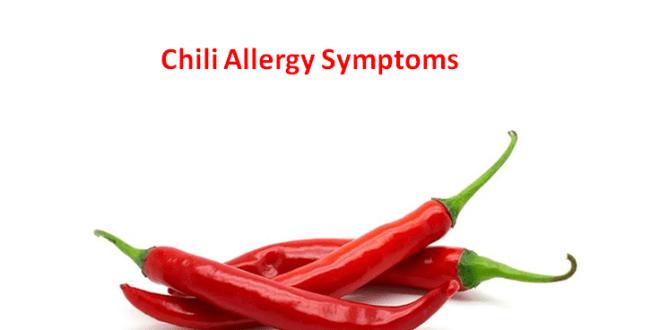 Chili Allergy Symptoms