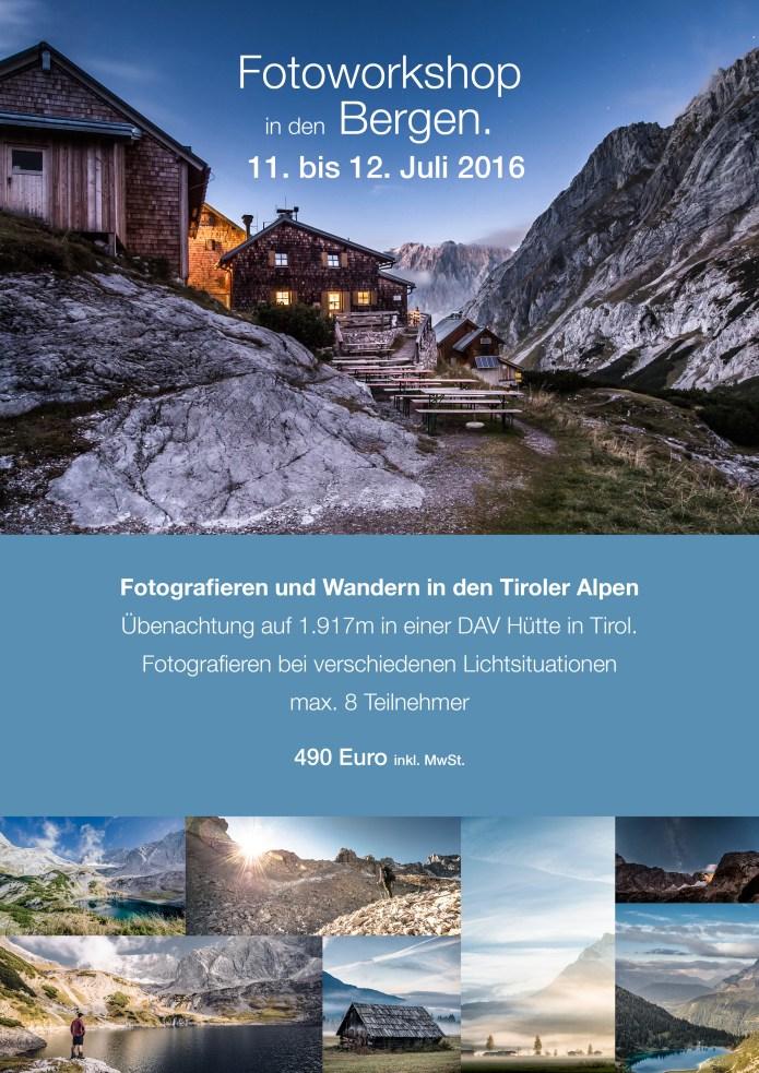 Flyer Fotoworkshop in den Alpen3