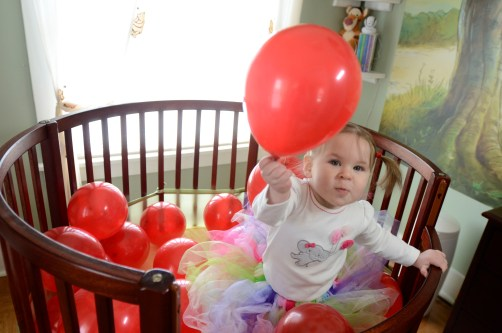 balloons in a crib