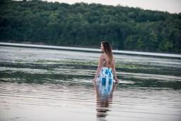 Katrina senior portraits in water at Yellow Creek State Park