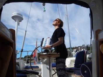 Interpret clouds at sea