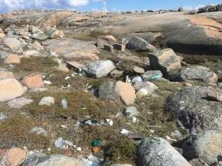 Terrible - lots and lots of plastics and garbage.