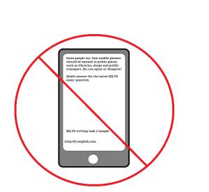 Banning mobile phones in puplic places- essay