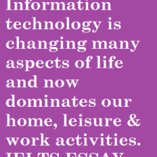IELTS essay on IT changing many aspects of life