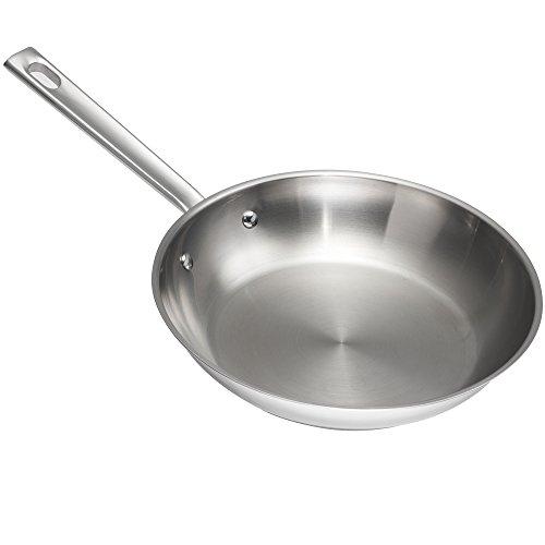 emeril lagasse 62951 stainless steel fry pan 8 silver frying pans. Black Bedroom Furniture Sets. Home Design Ideas