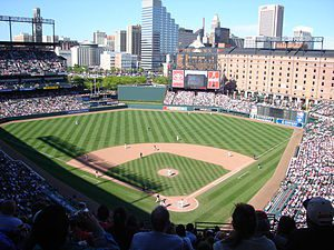 Baltimore Oroles in a May 8, 2005 photo agains...