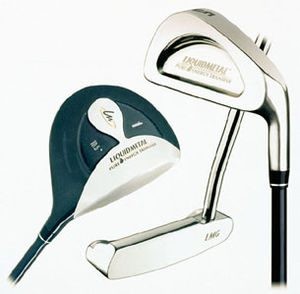 Three golf clubs of different classes. From le...
