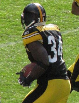 English: Rashard Mendenhall of the Pittsburgh ...