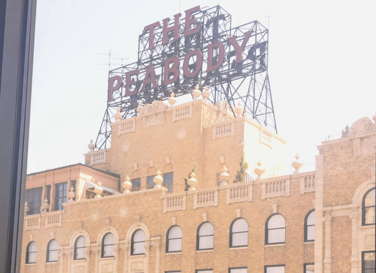 View of The Peabody Hotel