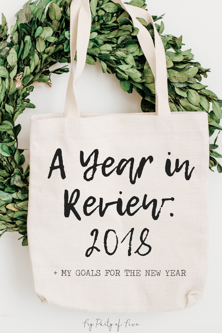 2018 Year in Review for Fry, Party of Five + Goals for 2019