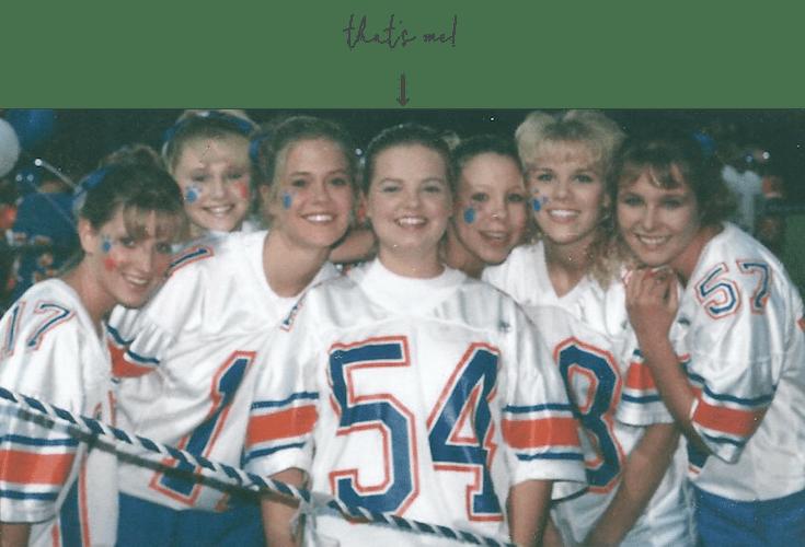 Christopher Bearcat football cheerleading 1997