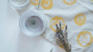 DIY Lemon Stamped Tea Towel